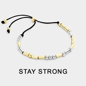 "Jewelry - Morse Code ""Stay Strong"" Inspirational Bracelet"